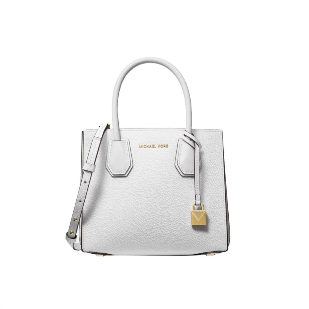 MICHAEL KORS - Mercer MD Crossbody fisarmonica - Optic White