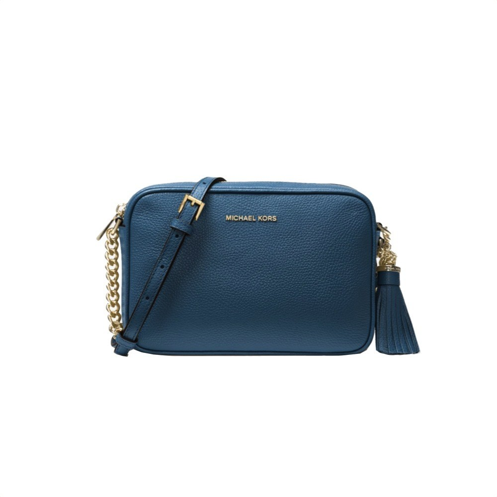 MICHAEL KORS - Tracolla Ginny in pelle - Dark Chambray