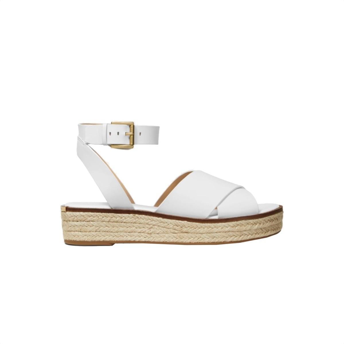 MICHAEL KORS - Abbott sandalo in pelle - Optic White