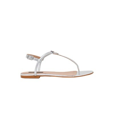 PATRIZIA PEPE - Sandalo in Pelle laminata - Silver
