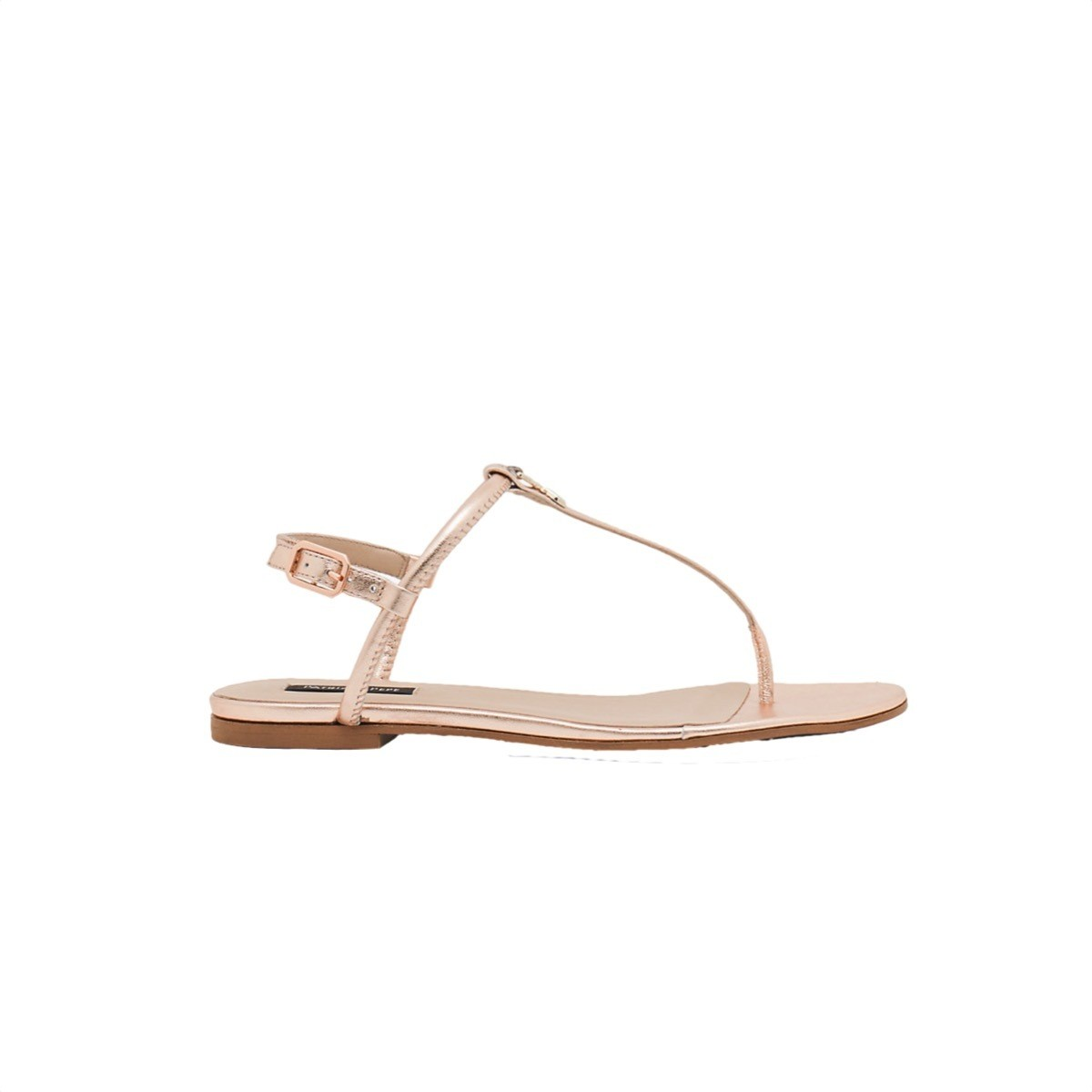 PATRIZIA PEPE - Sandalo in Pelle laminata - Oro Rosa