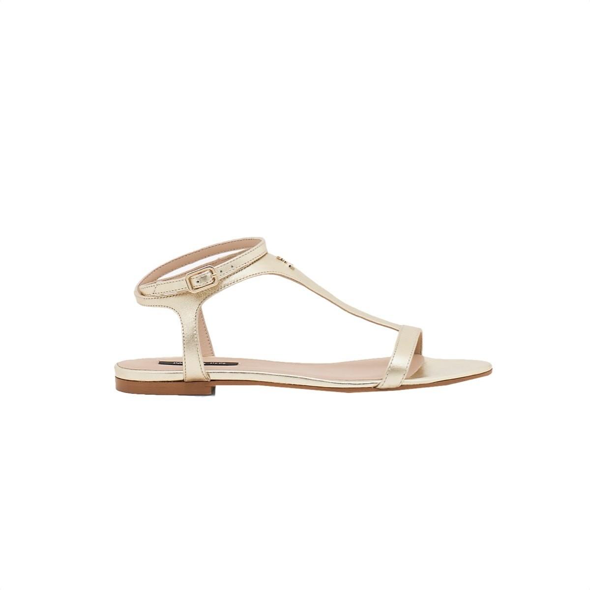 PATRIZIA PEPE - Sandalo in Pelle laminata - Platinum