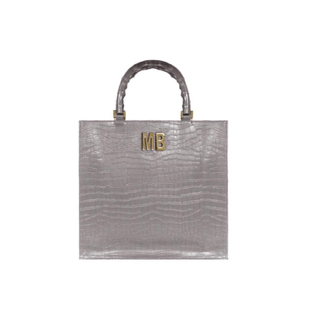 MIA BAG - Shopping Lux Pelle Cocco Personalizzabile - Taupe
