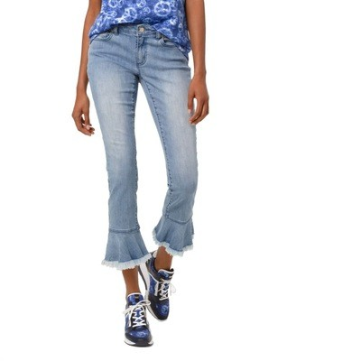 MICHAEL KORS - Jeans Izzy con volant - Light Vintage Wash