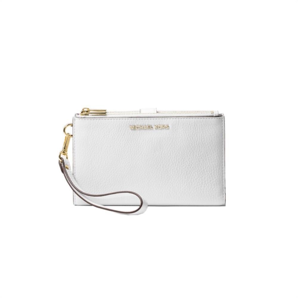 MICHAEL KORS - Adele Leather Smartphone Wristlet - Optic White