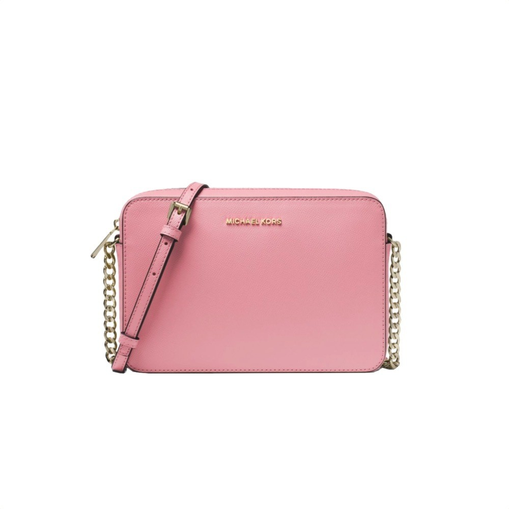 MICHAEL KORS - Tracolla Jet Set in pelle saffiano - Carnation