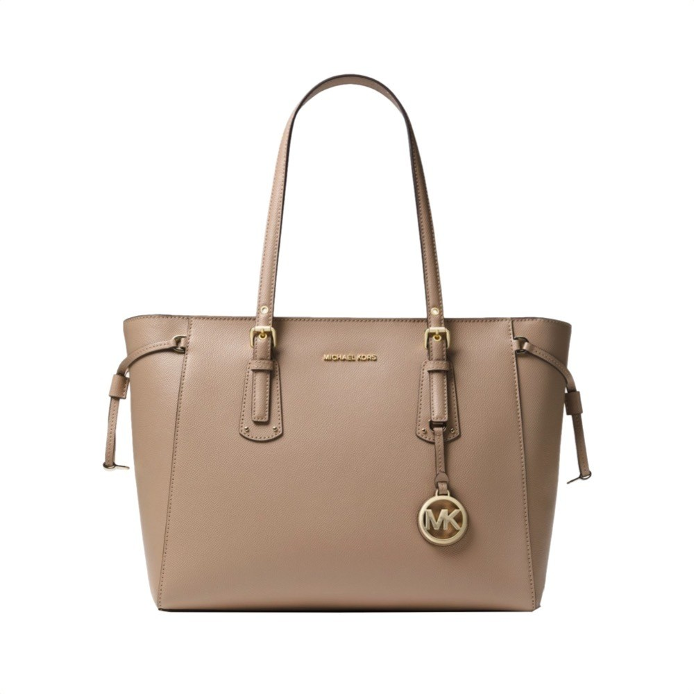 MICHAEL KORS - Voyager Medium Leather Tote - Truffle