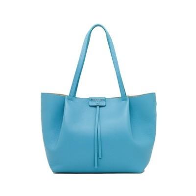 PATRIZIA PEPE - Borsa shopping in pelle - Cosmic Blue