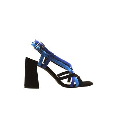 WHAT FOR - Lily sandalo - Black/Blue