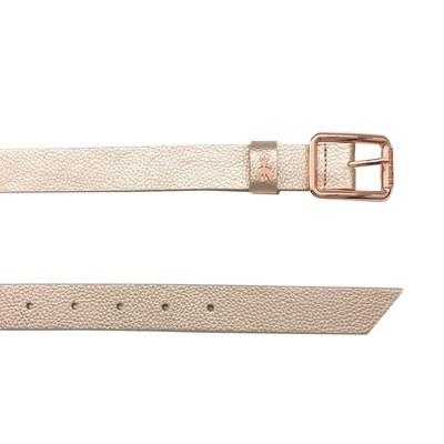 PATRIZIA PEPE - Cintura vita bassa in pelle - Oro Rosa