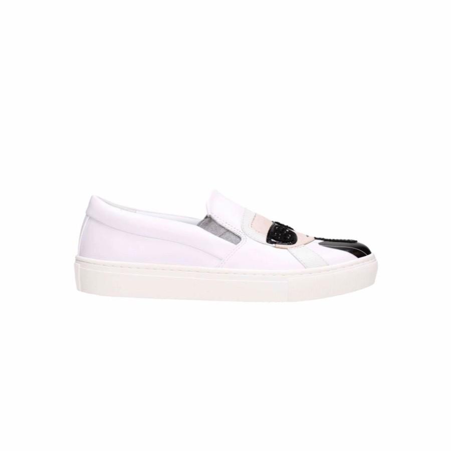 KARL LAGERFELD - Sneakers Slip-On Kupsole Karl Ikonik - Bianco