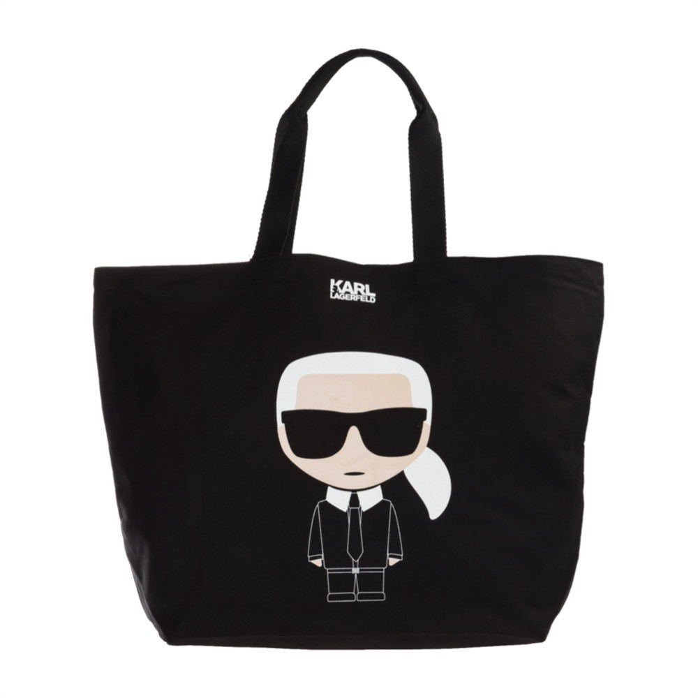 KARL LAGERFELD - K/Ikonik Canvas Bag - Black