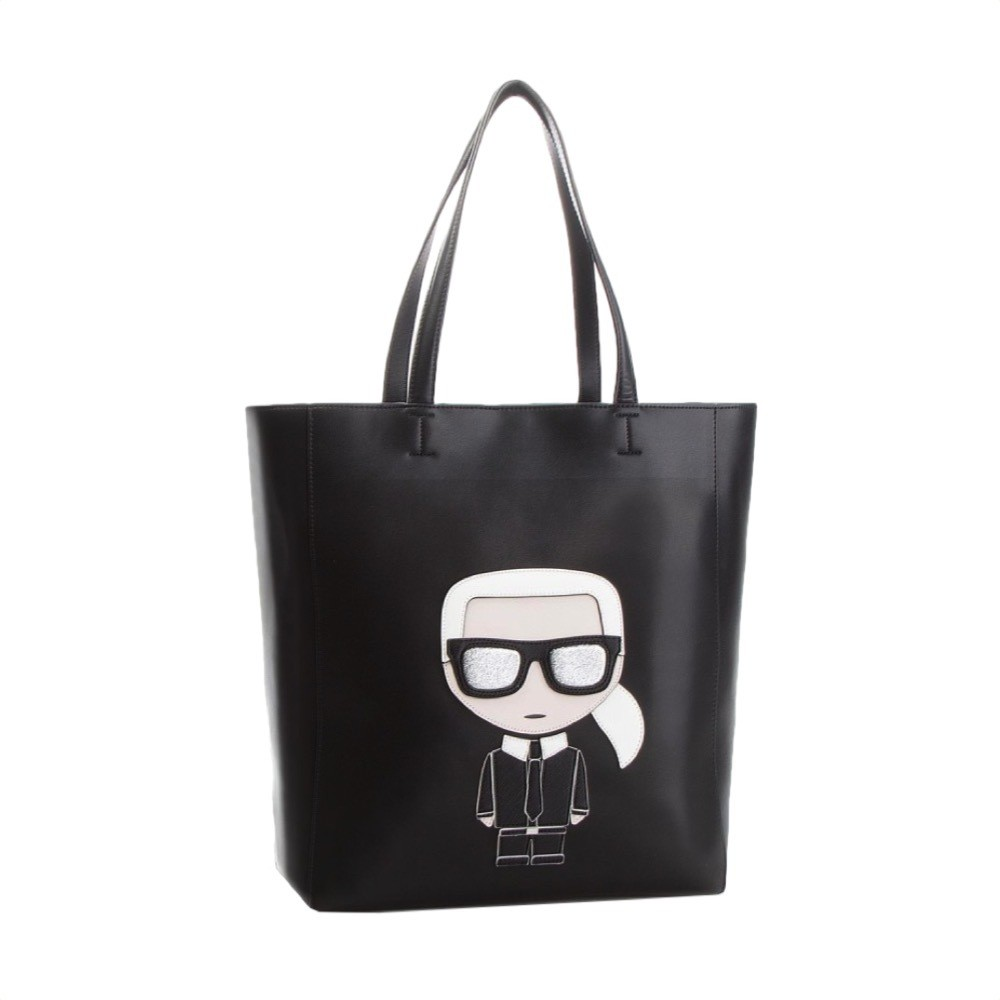 KARL LAGERFELD - K/Ikonik Shopper Morbida - Black