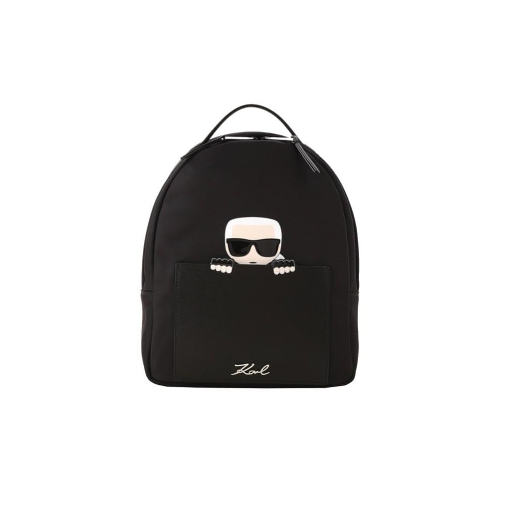 KARL LAGERFELD - K/Ikonik Zaino Piccolo in nylon - Black