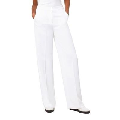 MICHAEL KORS - Pantalone effetto stropicciato con gamba ampia - White