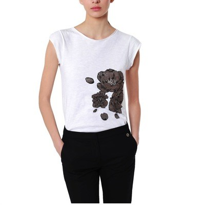 BORBONESE - T-shirt stampa fiore - White/OP Natural