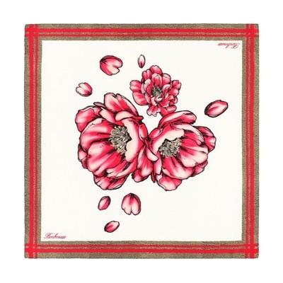 BORBONESE - Foulard peonia 90x90 - Radish