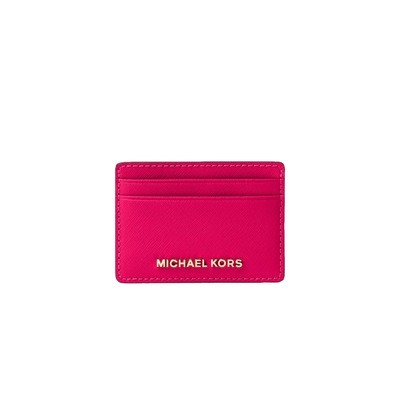 MICHAEL KORS - Jet Set Travel Card Holder - Ultra Pink