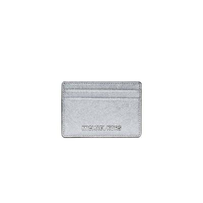 MICHAEL KORS - Jet Set Travel Card Holder - Silver