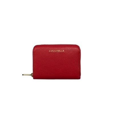 COCCINELLE - Metallic Soft Portafoglio - Coquelicot