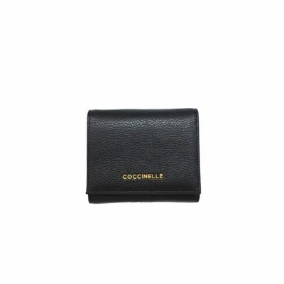COCCINELLE - Metallic Soft Portafoglio piccolo con portamonete - Noir
