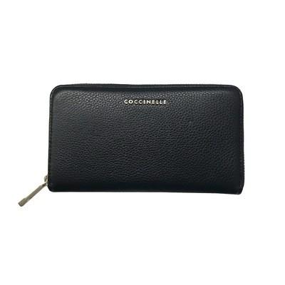 COCCINELLE -Metallic Soft Portafoglio in pelle - Nero