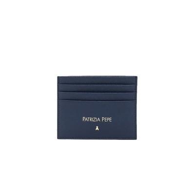 PATRIZIA PEPE - Porta tessere in pelle saffiano - Dress Blue
