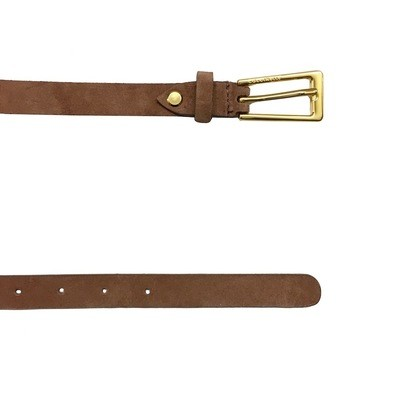COCCINELLE - Cintura Liya Suede in pelle - Cuoio