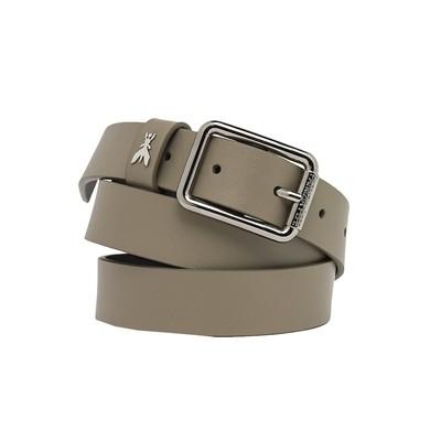 PATRIZIA PEPE -Cintura in vera pelle - Uniform Gray