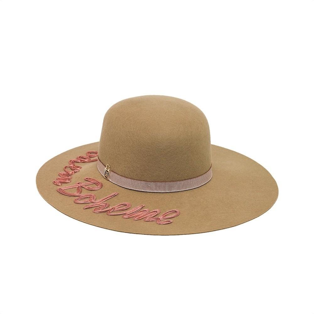PATRIZIA PEPE - Cappello in panno di Lana - Camel Pink Boheme