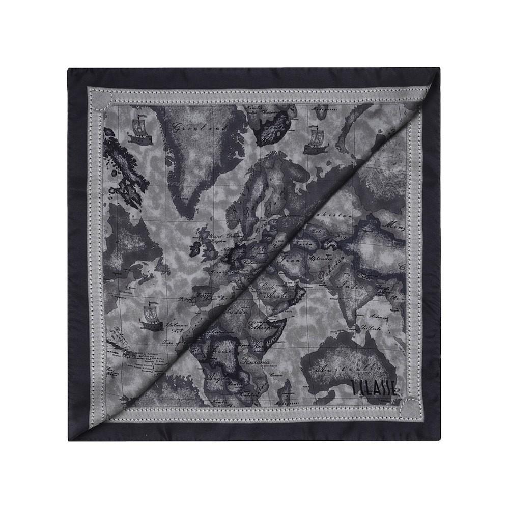 ALVIERO MARTINI - Foulard Geo Color 70x70 - Charcoal