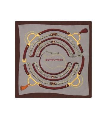 BORBONESE - Foulard cinghie 90x90 - Burgundy