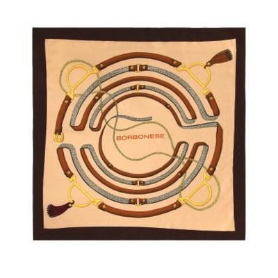 BORBONESE - Foulard cinghie 90x90 - Ginger