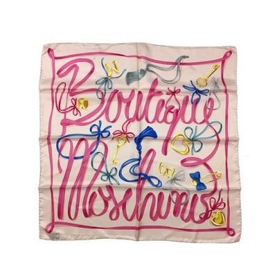 BOUTIQUE MOSCHINO - Foulard nastri 65x65 - Rosa