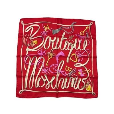 BOUTIQUE MOSCHINO - Foulard nastri 65x65 - Rosso