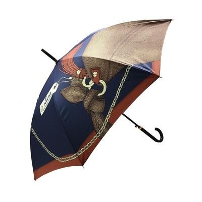 BORBONESE -Ombrello lungo - Peacock/Ginger