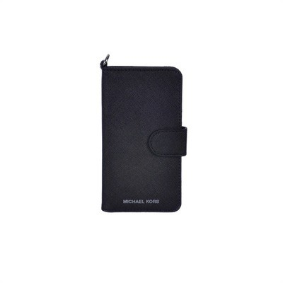 MICHAEL KORS - Leather Phone Case For iPhone 7 - Black