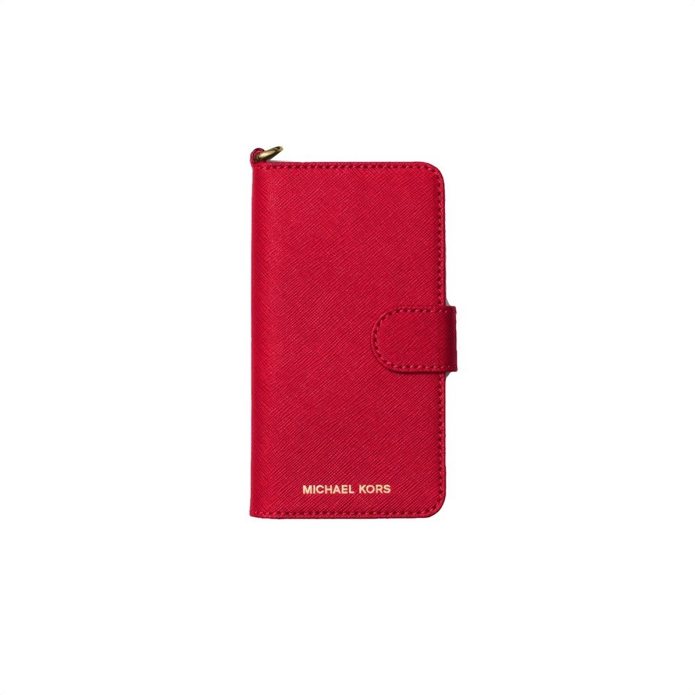 MICHAEL KORS - Leather Phone Case For iPhone 7 - Bright Red