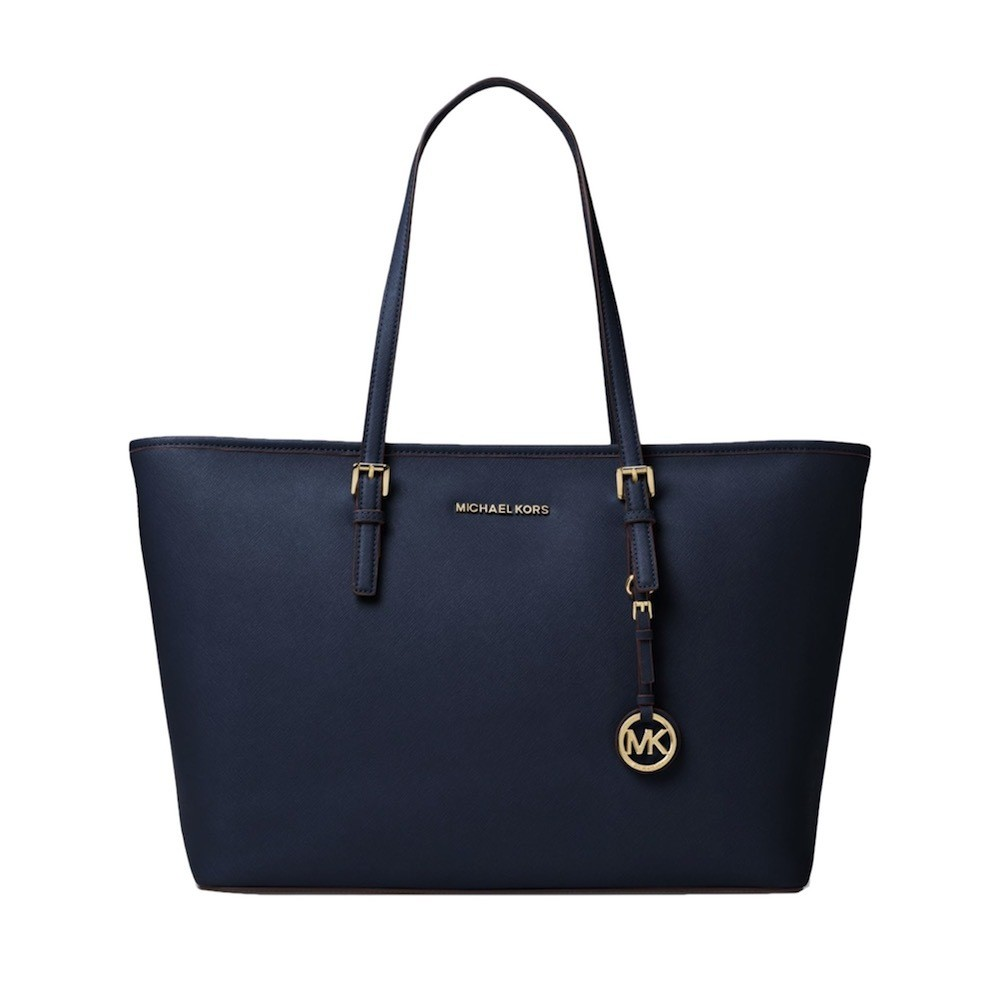 MICHAEL KORS - Jet Set Travel MD Top Zip Mult Funt Tote - Admiral