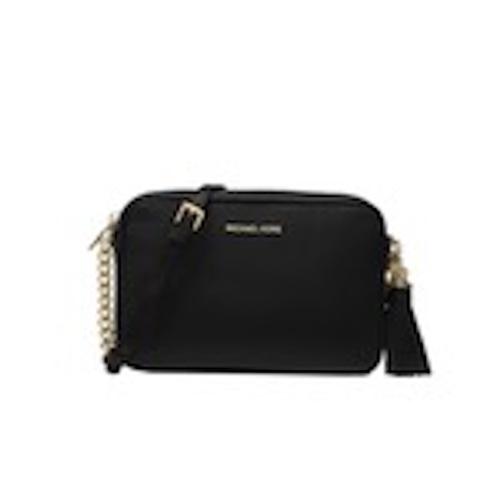 MICHAEL KORS - Tracolla Ginny in pelle - Black