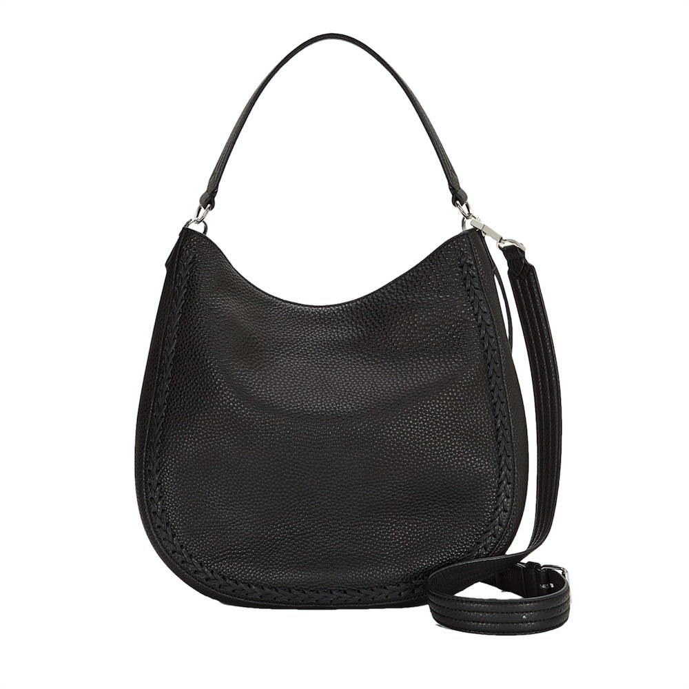 REBECCA MINKOFF - Unlined Convertible Hobo - Black