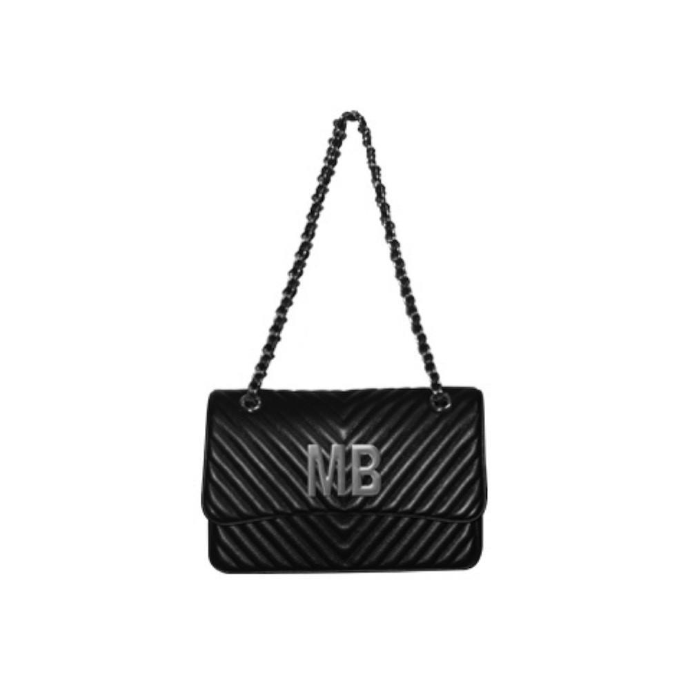 nuovo di zecca 4e080 a4a96 MIA BAG - Tracolla media Personalizzabile - Nero con finiture ARGENTO