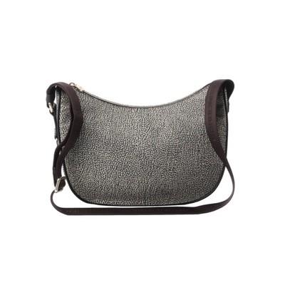 BORBONESE - Luna Bag Small in Jet O.P. e pelle - Classico/Marrone
