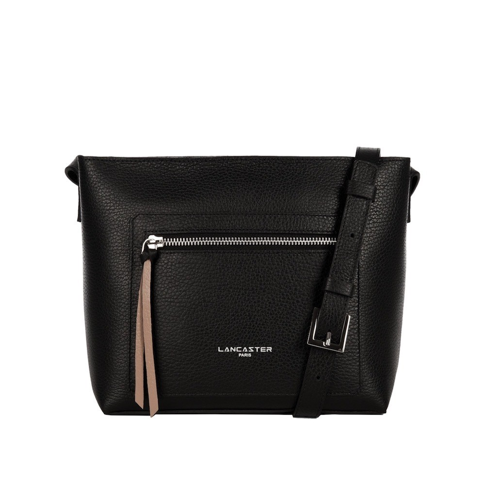 LANCASTER - Small Crossbody Bag - Noir in Nude