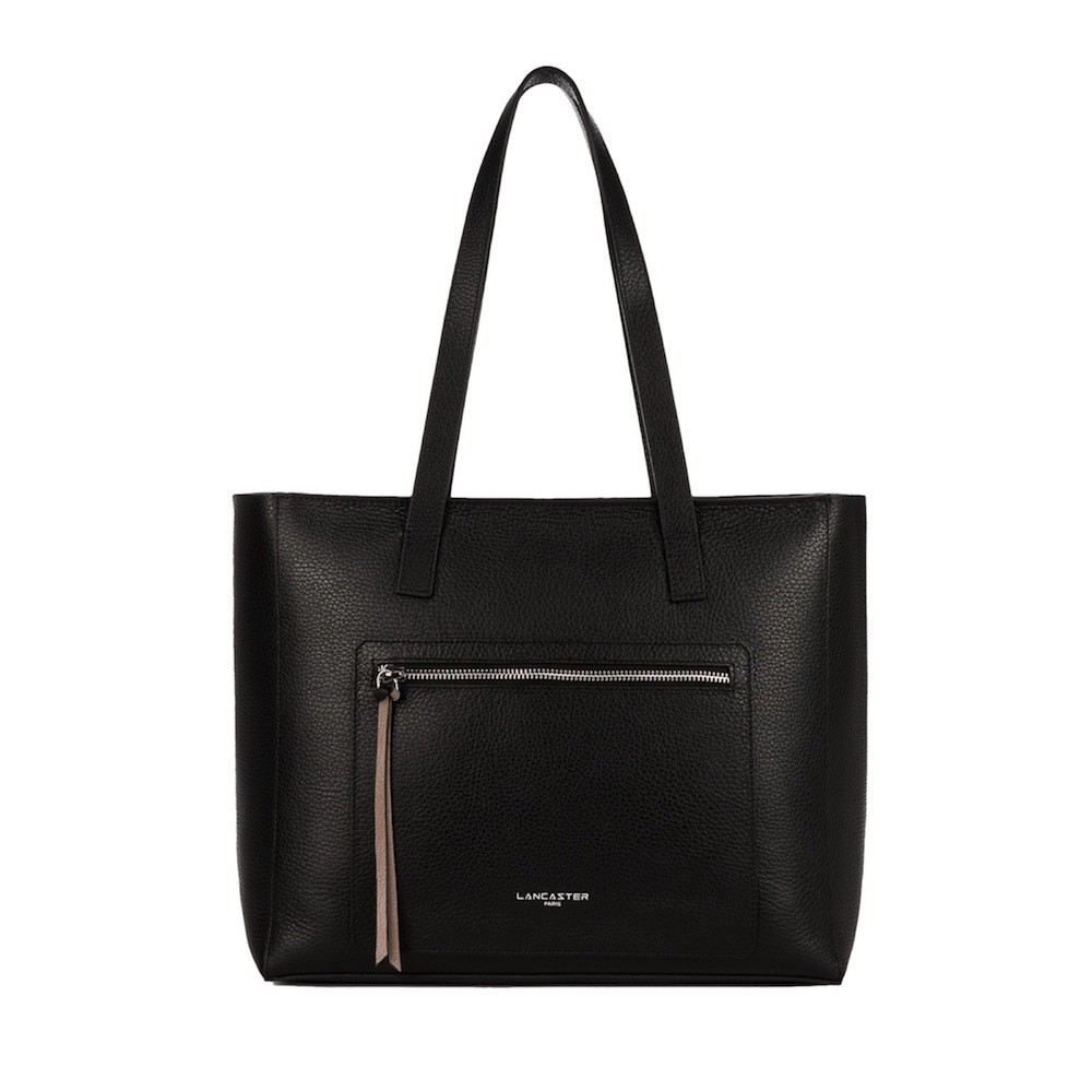 LANCASTER - Handle Bag - Noir in Nude