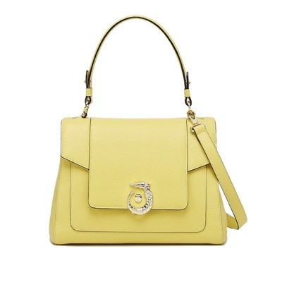 TRUSSARDI - Icon Bag Lovy Regular Calf Leather Orient - Giallo