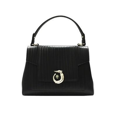 TRUSSARDI - Icon Bag Lovy Regular Calf Leather Tresor Lined - Black