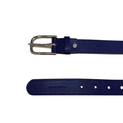 COCCINELLE - Cintura Basic in pelle saffiano - Blu