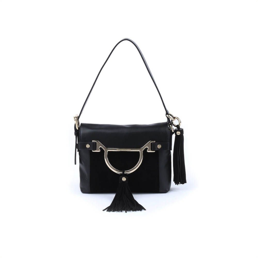 BORBONESE - Diva Hobo Bag Small - Nero