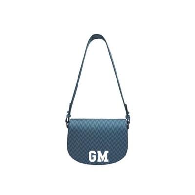 MIA BAG - Bisacca Monogram Personalizzabile - Azzurro